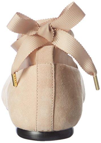 Bianco Pointy Lace Ballerina Jfm17, Ballerines femme Elfenbein (neutral)