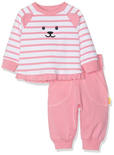 Steiff Baby - Mädchen Bekleidungsset Set Pants + Sweatshirt L001912430, Gr. 56, Rosa (Morning Glory 7013)