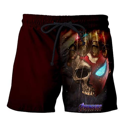 HuoZhog Pantalones Cortos Hombres Verano Marvel 3D Imprimir Casual Shorts Beach Fitness Cintura Elástica...