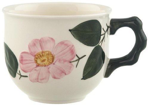 Villeroy & Boch Wildrose Kaffeeobertasse/Rosen Geschirr im Landhausstil aus Porzellan in Weiß/1 x...