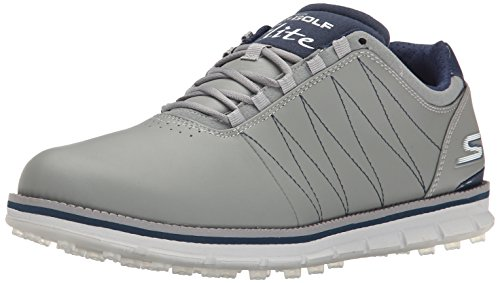 2016-skechers-go-golf-elite-leather-mens-golf-shoes-waterproof-charcoal-navy-85uk