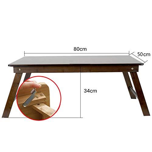 XNADESK Laptop-Schreibtisch, Bambus Laptoptisch Einstellbare Lap Tablett Große Größe Bett-servier-tablett Frühstückstasse Faltbare Notebook Computerschreibtisch-i-Lock 80x50cm(31x20inch) (Kinder-tv-lap Tray)