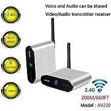 Measy AV220 - Transmisor y Receptor de Audio de vídeo inalámbrico AV de 2,4