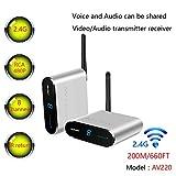 Measy AV220 - Transmisor y Receptor de Audio de vídeo inalámbrico AV de 2,4 GHz hasta 200 m