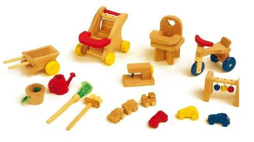 Mobili per casetta delle bambole «Parco giochi» (Set da 14)