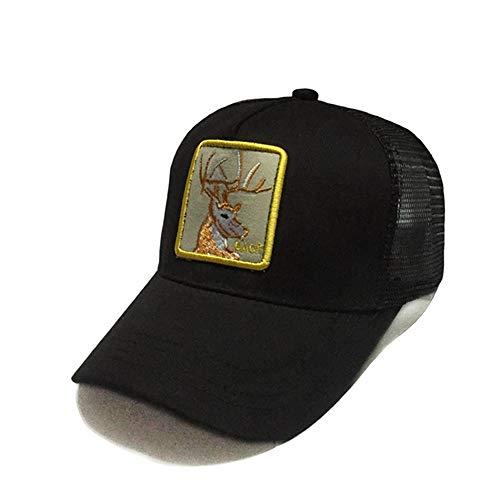 zhuzhuwen Hut Neue Tier Stickerei Mesh Cap Baseballmütze im Freien Sonnenschutz Hip-Hop Hip-Hop-Kappe 11 56-62cm