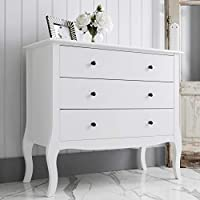 Noa and Nani - Camille 3 Drawer Chest of Drawers - (White)