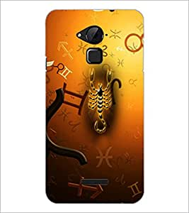 PrintDhaba Scorpio D-4276 Back Case Cover for COOLPAD NOTE 3 LITE (Multi-Coloured)