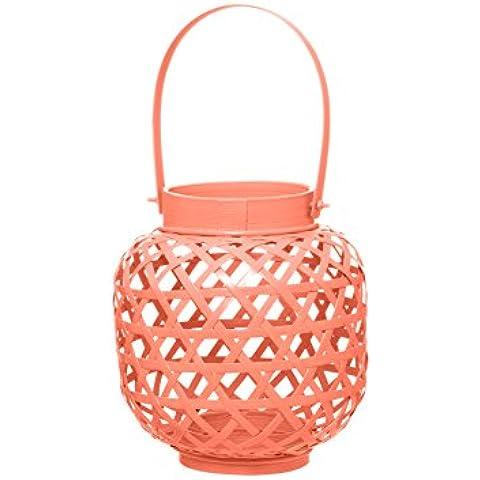 Present Time PT Home para velas Web de bambú, con efecto piel de melocotón rosa