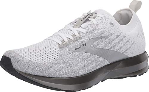 Brooks Mens Levitate 3 Running Shoe - White/Grey/Silver - D - 15.0
