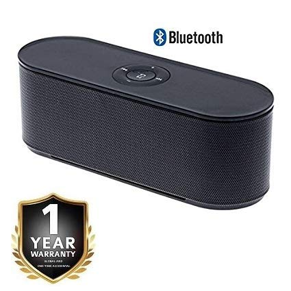 Zuffon S207 Portable Wireless Bluetooth Speaker Stereo Audio Receiver Mp3 Player with TF Card FM Radiofor Android Phones (S207_Speakr_)