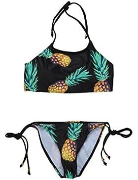 Rawdah 2017 gran venta Traje de baño de piña Swimsuit Backless bikini
