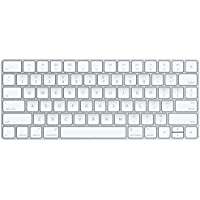 Apple MLA22LB/A Bluetooth QZERTY US English Plata, Color blanco - Teclado (Bluetooth, Universal, QZERTY, Inglés de EE. UU., Inalámbrico, Batería)