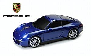 Porsche 911(991) Carrera S voiture souris sans fil (Bleu)