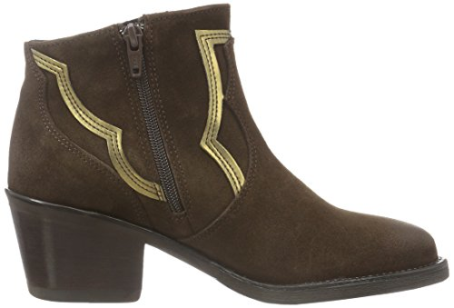 Bronx River, Bottes Classiques femme Multicolore - Mehrfarbig (Dark Brown/OLD GOLD 1786)
