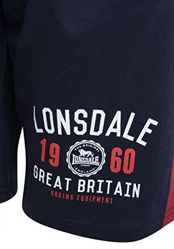Lonsdale -  Pantaloncini sportivi  - Uomo navy scuro