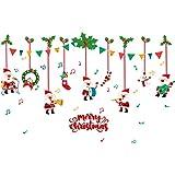Longzjhd Weihnachten Restaurant Einkaufszentrum Dekoration Schnee Glas Fenster Entfernbar Aufkleber filigrane Aufkleber Schneeflocken Wandtattoo Fensteraufkleber Fensterbilder