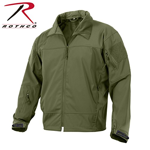 Rothco Coyote Covert Ops Soft Shell giacca leggera, Uomo, Olive Drab, XL
