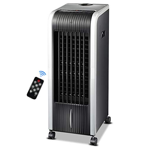Coupon Matrix - LIANGJUN Air Cooler Fan Conditioner Intelligent Remote Control Evaporative Household Efficient, 3 Speed, 5.3L, 85W (Color : Black+silver, Size : 26.5x32x73cm)