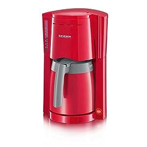 Severin KA 9746 Filter-Kaffeemaschine Rot-Grau 800 Watt (Generalüberholt)