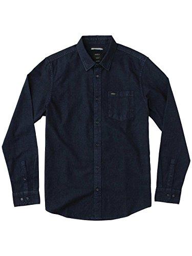 RVCA Herren Langarmhemd Blau