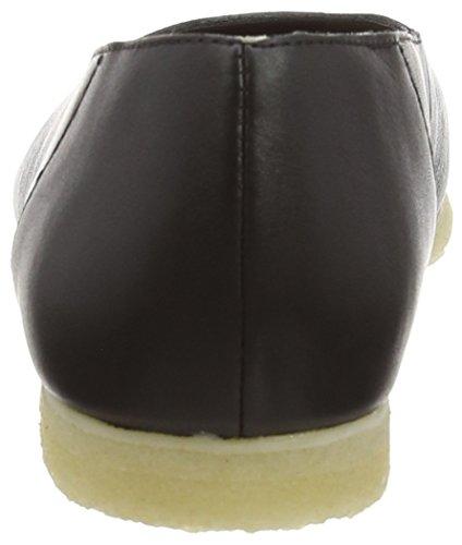 Clarks Damen Ffion Ivy Flache Hausschuhe Schwarz (Black Leather)
