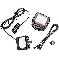 forfar PC 1 Cuentakilómetros LCD inalámbrico para computadora Digital Medidor de velocímetro para MTB BMX Mountain Road Bike Bicycle Cycling Regalo