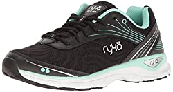 RYKA Womens Regina Walking-Shoes, Black/Mint, 8.5 M US