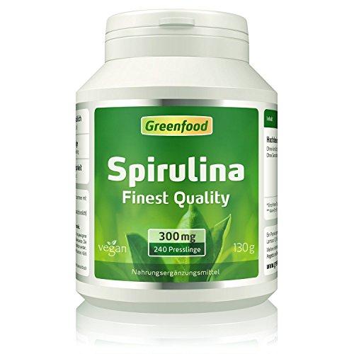 Grreenfood Spirulina, Finest Quality, 300mg, 240 Tabletten