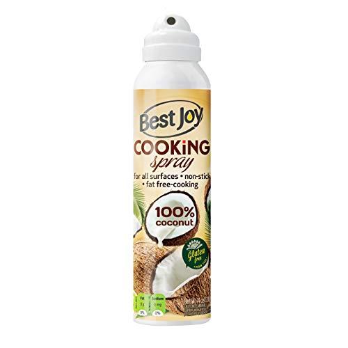 Best Joy Kokosöl im Spray 1er pack 100 ml Coconut Oil Cooking Spray Geschmaksneutral ohne Geruch GVO Gluten Frei Vegan Öl zum Spritzen Bis zu 1500 Portionen