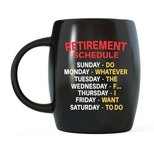 Tasse A Day - Geschenkidee für Chef, Coworker, Opa, Oma, Vater, Mutter, Familie oder Freunde - Terminkalender, Büro, Humor, Ruhestand, Keramik, Kaffeetasse für Weihnachten oder Geburtstage