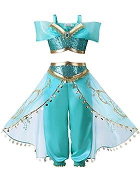 Pettigirl Ragazze Blu lustrino Classico Principessa Vestire Costume attrezzatura