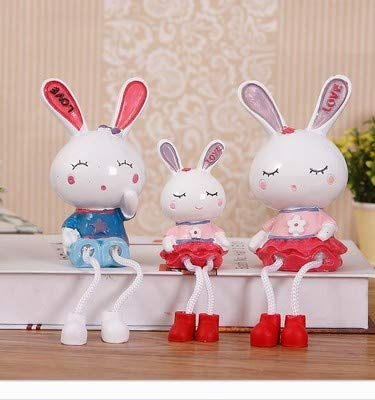 ZSWshop Dekoration Mädchenherz Fernsehkabinettdekoration stellt Gruppenwohnzimmerpaare Minidisplaygeschenke schönen Hochzeitsschrank EIN, weiß