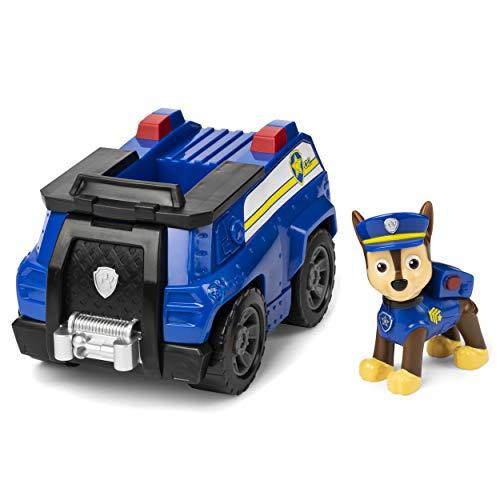 Paw Patrol, Veicolo della Polizia, 1 personaggio di Chase incluso, dai 3 anni, Multicolore, 6054118