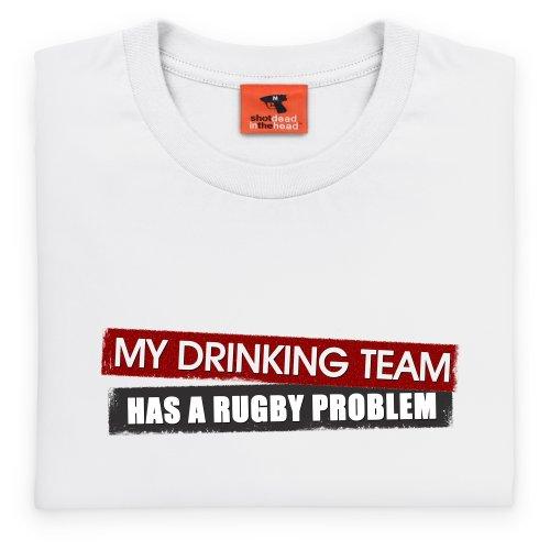 Drinking Team Light T-Shirt, Herren Wei
