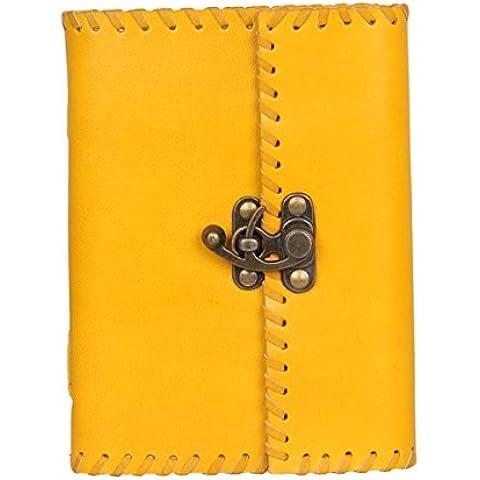 Regalos de Navidad, Diario de cuero genuino con papel de algodon Croquis Cuaderno diario personal diario