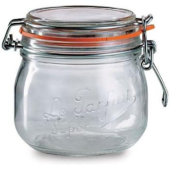 Le Parfait Traditional Bellied Jar 0.5l / 9.6 x 10.7cm, Kitchen Storage Jars and Containers Range
