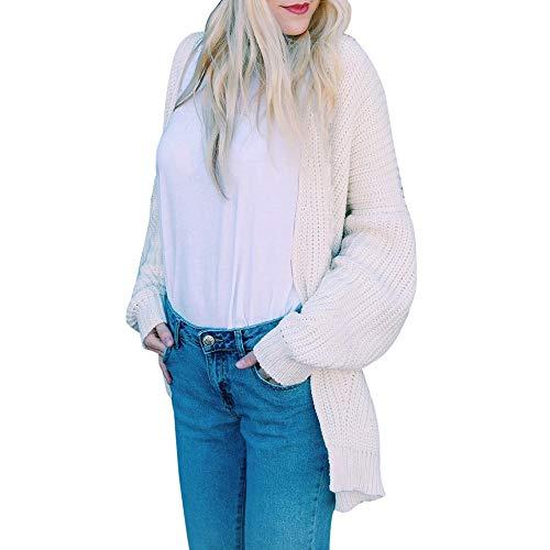 Damen Cardigan Coat Outwear Rosennie Fashion Long Sleeve Solid Loose Knitted Sweater Jacke...