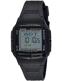 Casio DB-36-1A - Reloj unisex (30 conjuntos de datos, cuarzo, alarma, cronómetro), color negro