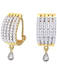 711702e0f Zeneme Gold & Silver Gold Plated Stud Earrings Jewellery For Women and Girl