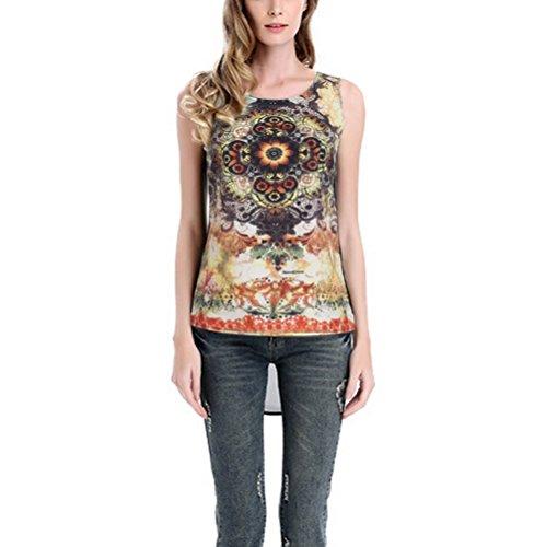 MILEEO Damen Elegantes Oberteil Festliches Longshirt Große Größen Shirts Kurzarm Bluse Stil 9