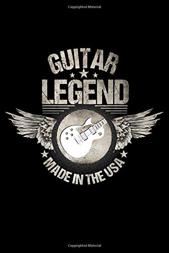 Guitar Legend Made In The USA: 100 Page Guitar Tabs Music Sheet Book