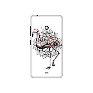 The Racoon Grip printed designer hard back mobile phone case cover for Microsoft Lumia 540. (Fractal Fl)