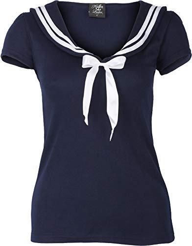 Küstenluder Damen Oberteil Brigid Sailor Matrosen Shirt Blau M