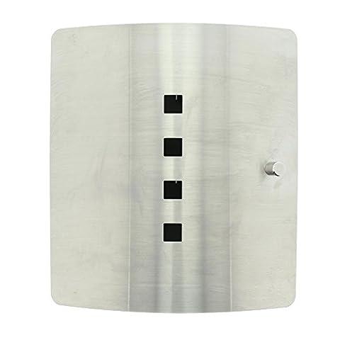 BURG-WÄCHTER, Wand-Schlüsselbox, 10 Haken, Praktischer Magnetverschluss, Edelstahl, Höhe: 240 mm, Quad 6204/10 Ni