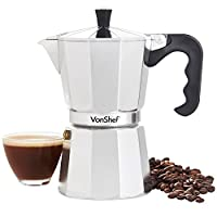 VonShef 3/6/9/12 Cup Italian Espresso Coffee Maker - Includes a Replacement Gasket and Filter