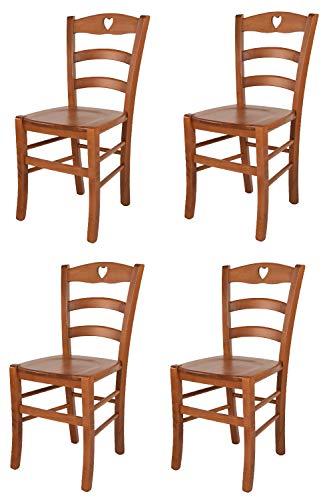 Tommychairs sillas de Design - Set 4 sillas Modelo Cuore para Cocina,...