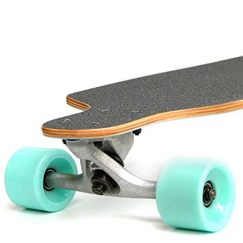 Apollo Twin-Tip Topmount Longboard, Maui Colour, ABEC Kugellagern, Twin-Tip Freeride Skaten Cruiser Board -