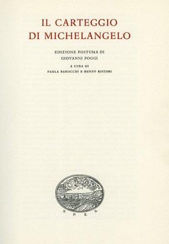 Carteggio (1554-1564). Ediz. numerata por Michelangelo Buonarroti