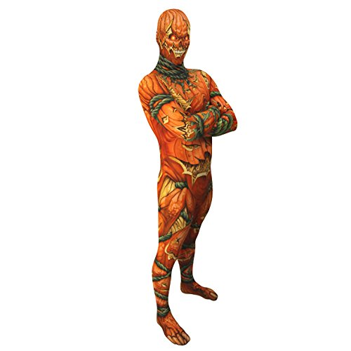 Jack O Lantern Morphsuit L - Large Fancy Dress